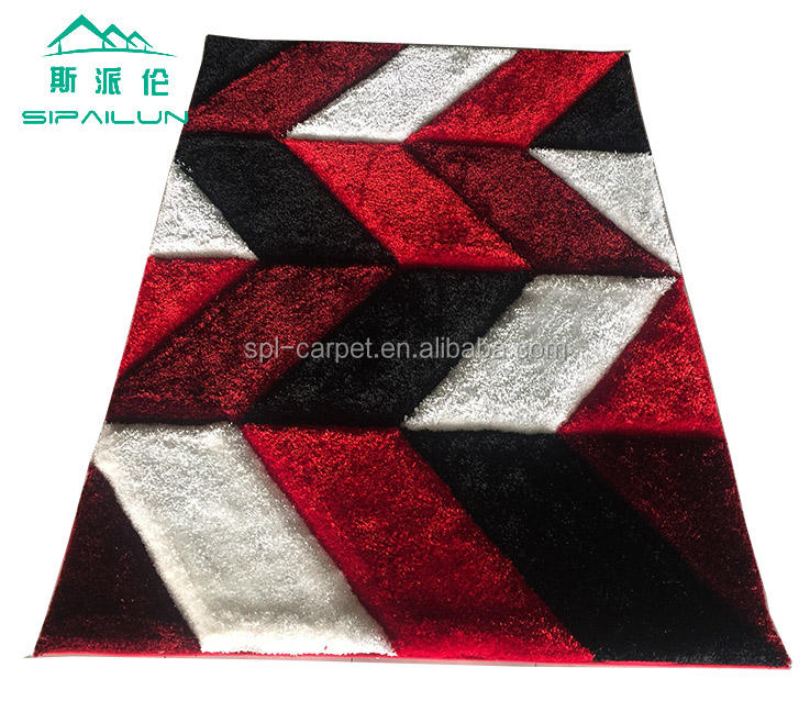 Polyester shaggy carpet of new design for home decor