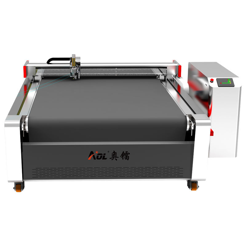 AOL CNC automatic cloth round knife textils chneide cutting machine