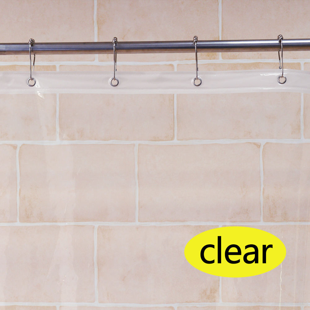 Eco Friendly Clear White Transparent Peva Shower Curtain Liner 180*180cm