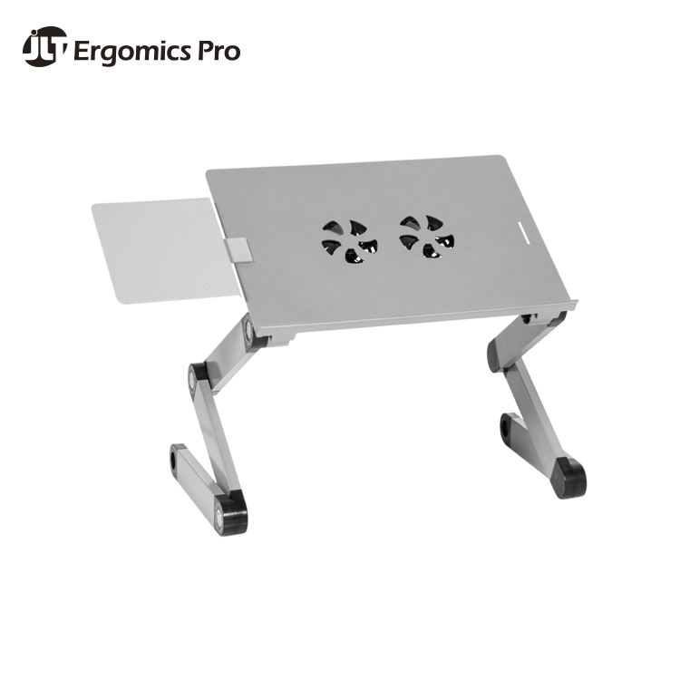 Standing Adjustable Lap Top Computer Desk Side Table Wheels Portable Home Office