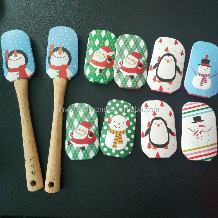 High quality Different Christmas types Silicone butter spatula private label