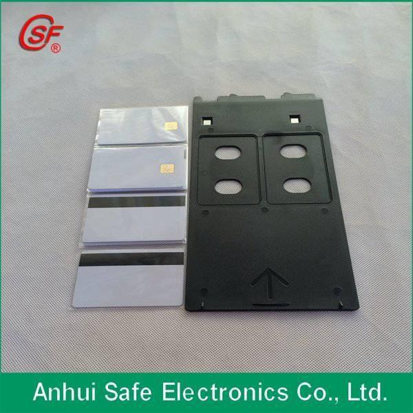 チップ付きカードmagstrip空白インクジェットpvcカード