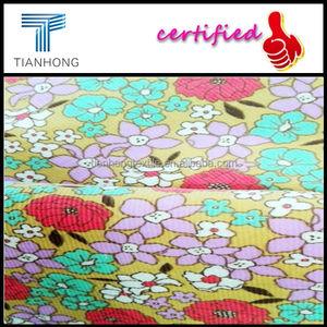 Yüksek kaliteli özel 16w baskı kadife/muti- Renk parça boyama kadife/baskılı kadife şerit kumaş