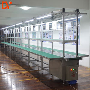 DY1128 Double Face Conveyor Belt Line System ESD LCD TV Assembly Line for Workshop