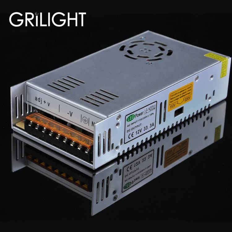 AC 110 V/220 V KE DC 12 V 24 V Led Transformer Diatur Power Supply 40a 500 w untuk LED Light