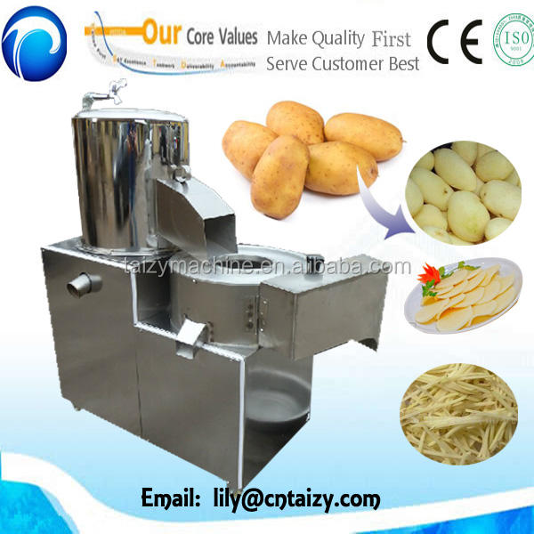 Electric french fries potato chips cutting machine potato washing peeling and slicing machine