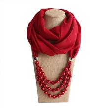 Best quality promotional pendent jewelry scarf