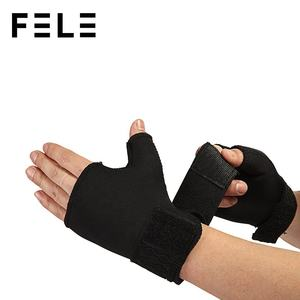Soft Breathable Adjustable Half Finger Glove Support Protector Sport Universal Wrist Palm Thumb Brace FL01-515