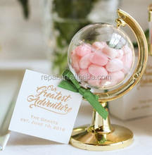Baby shower favor globe acrylic box for decoration gift Mini Globe Party Favor