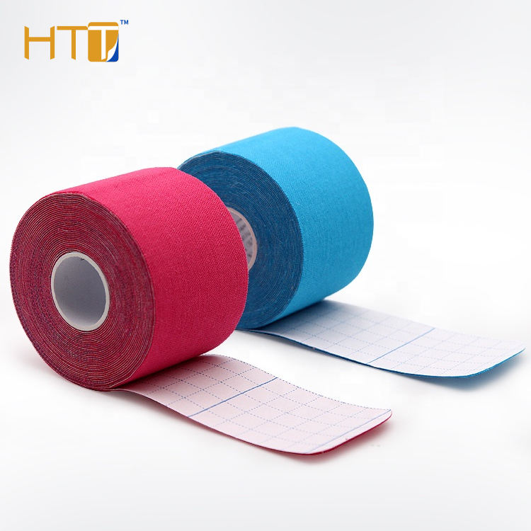 2.5*5 High quality cotton sports therapy flexible kinesiology tape for muscle supporting