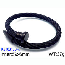 Wholesale fashion black 316L stainless steel jewelry man bracelet