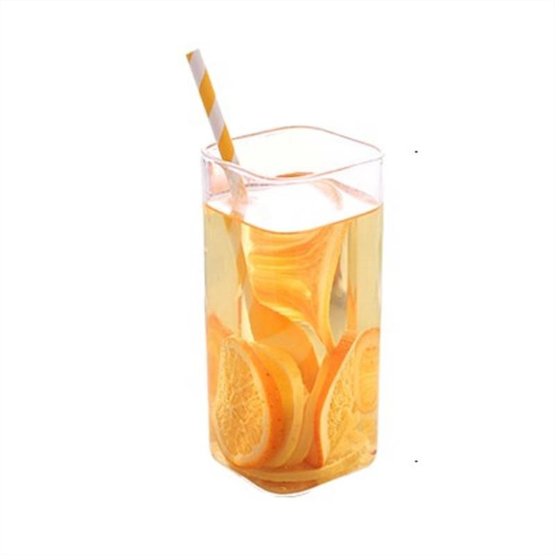 Glass cup manufacturer double layer glass cup for juice