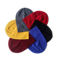 Various colors cheap blank slouch knitted beanies for promotion