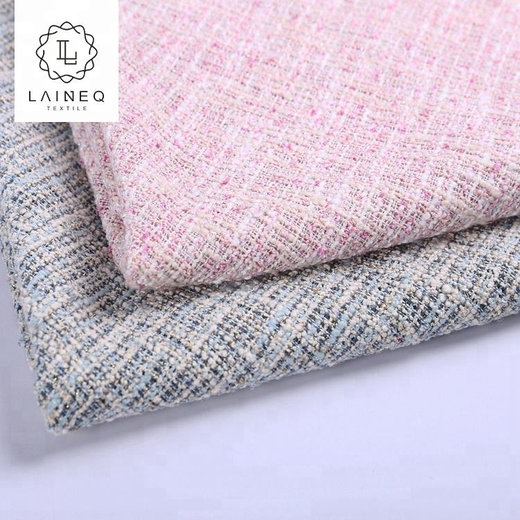 tweed factory super soft pink france chenille cotton tweed dress fabrics
