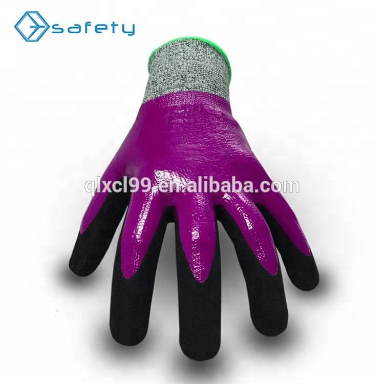Coated_gloves Nitrile Coated Waterproof Cut Resistant Gloves