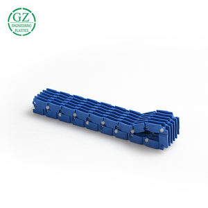 High wear resistance colored injection moulding plastic pom chain for conveyor chain