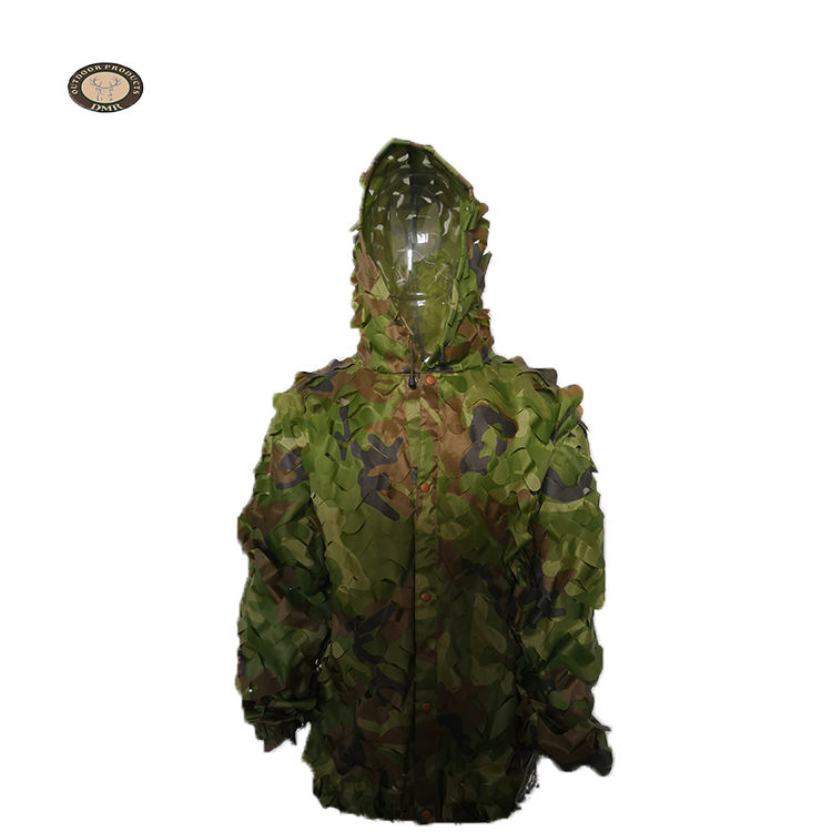 Custom green 카 모 camouflage net 옷 군 ghillie 잘 벌 fabric material
