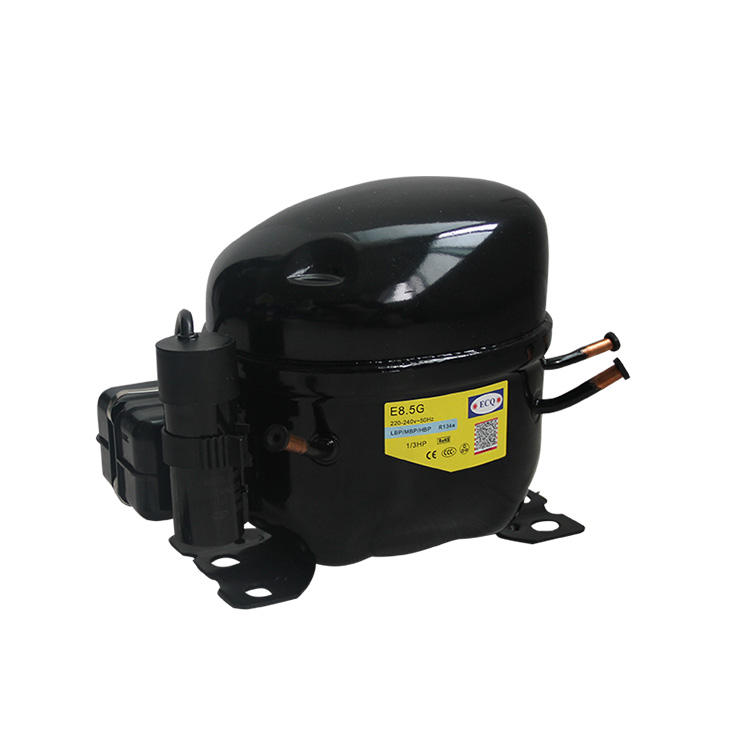 1/3HP high quality r134a compressor ECQ commercial refrigerator freezer compressor E8.5G