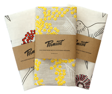 cotton linen kitchen tea towel with printing Flour sack tea towel