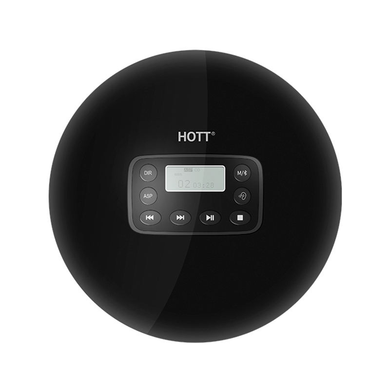 HOTT 4.1 Do <span class=keywords><strong>Bluetooth</strong></span> <span class=keywords><strong>CD</strong></span> Player <span class=keywords><strong>Portátil</strong></span> Built-In 1000mah Bateria Recarregável e LED Display, Fone De Ouvido, leitor de música