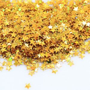 2.5mm Glitter Acrylic Star Table Confetti Gold Metallic Foil Sequins Throwing Nail Art Confetti For Wedding Party Decorations