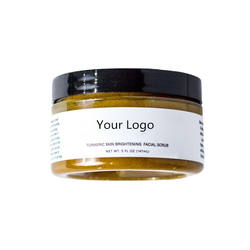 Private Label Turmeric Skin Brightening Face Scrub