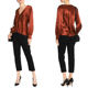 Fall Clothing Ropa Mujer Satin Long Sleeve Blouse For Women Ladies