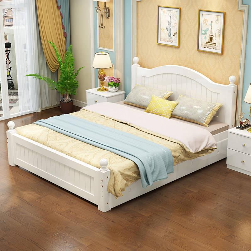 2018 muebles de dormitorio antiguo, cama de madera