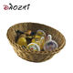 handwork woven baskets full sizes baby shopping basket with wheels empty gift basket