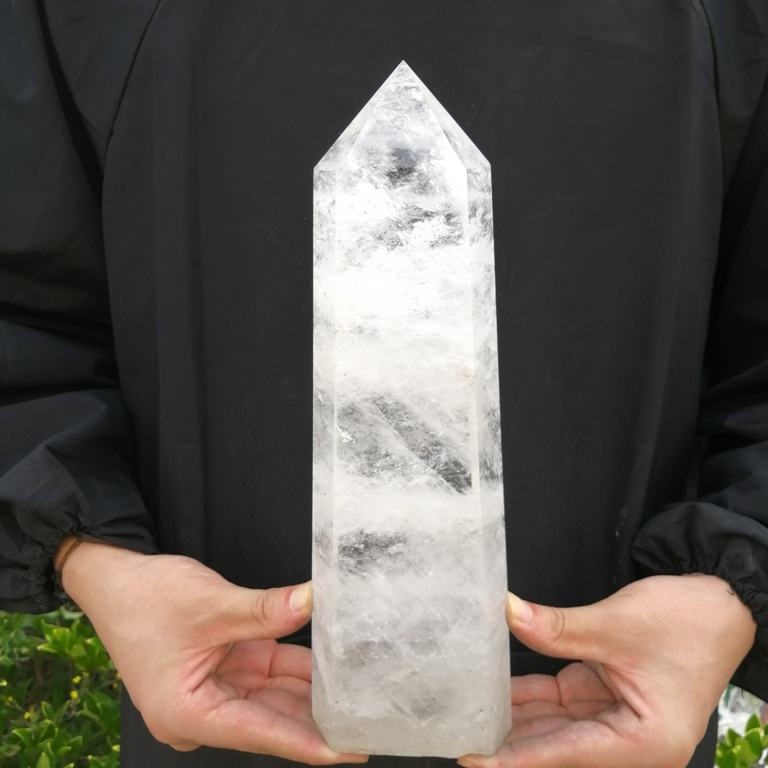 Natural Healing Crystal Big Clear White Quartz Crystal Stone Point Towers For Sale