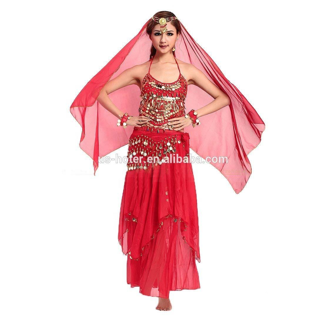 Sexy Gauze Belly Dancing Costumes Set-A Six-Piece/Hoter