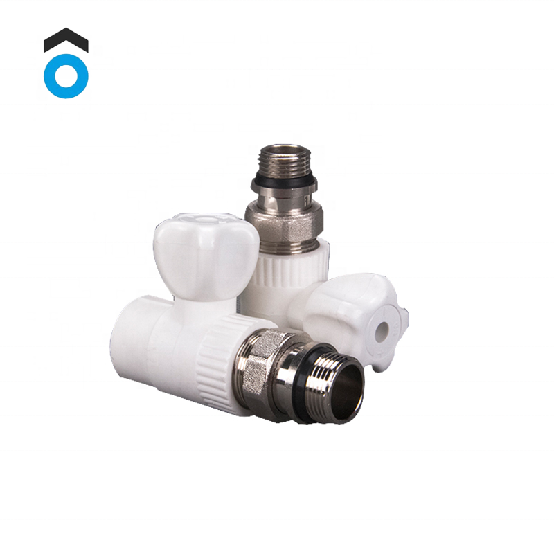 factory wholesale ppr pipe fitting ppr radiator ball valve for heating system