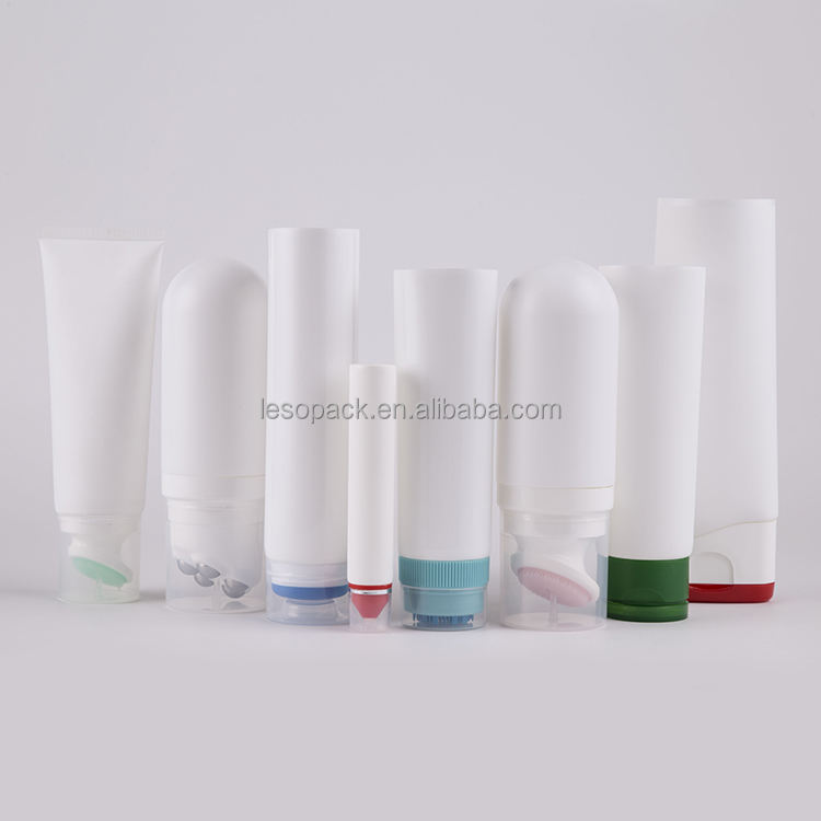 100ml 200ml Newest Products Cosmetic Tube Lotion Cream Application Silicone Bottle Caps