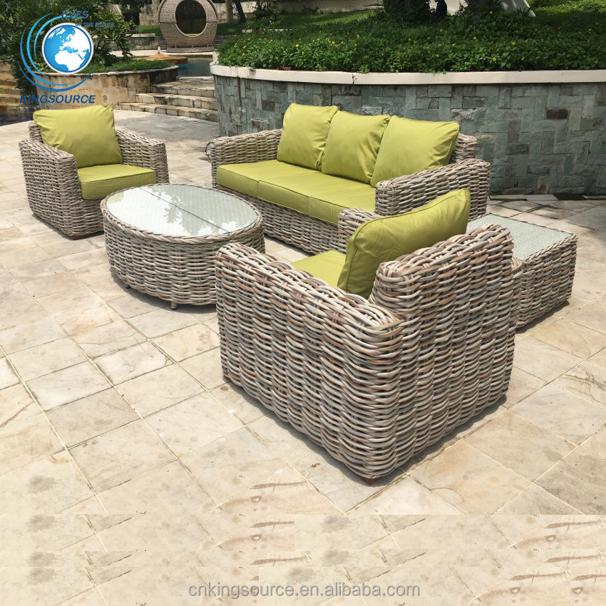 Best Replica Cane outdoor resin rattan sofa set with arm . .