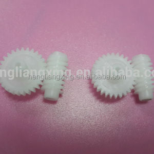 Small plastic worm and plastic worm gear for motor