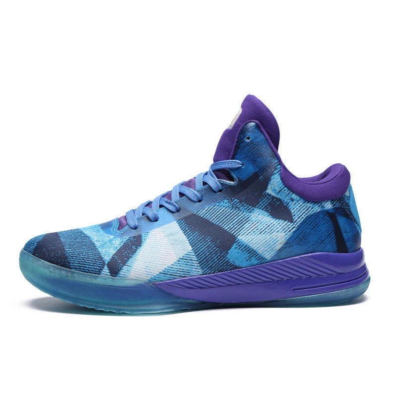 Latest design high quality high cut woven fashion basketball shoes