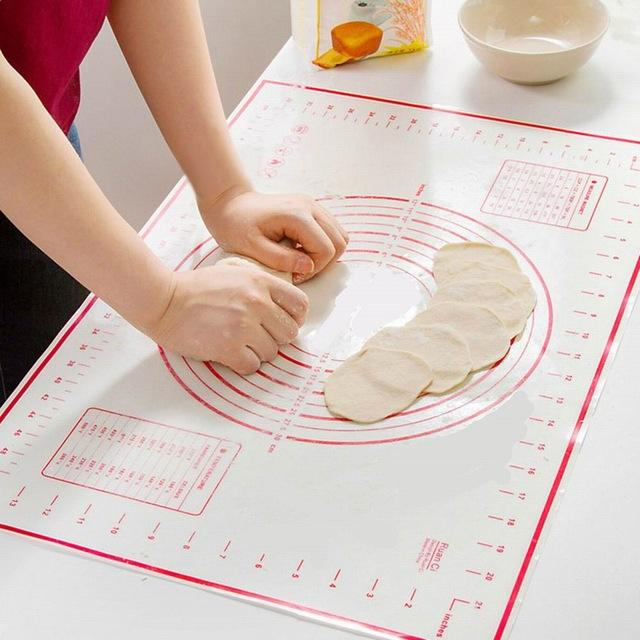 Large Silicone Pastry Mat with Measurement, Non-Stick and Non-Slip Rolling Dough Mats