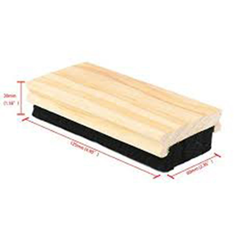 Factory supply China wool felt blackboard eraser with wood