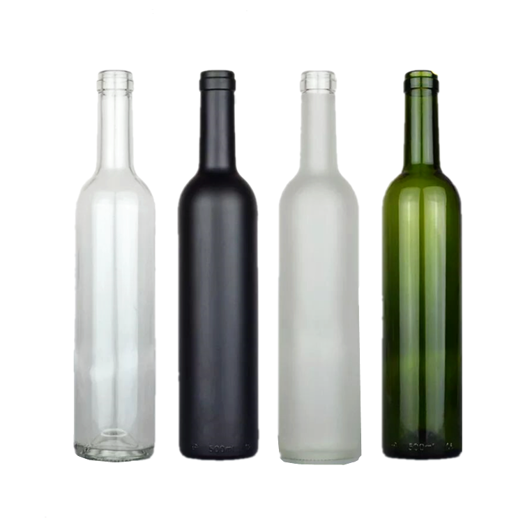 wholesale 500ml 750ml empty bordeaux shape glass wine bottle