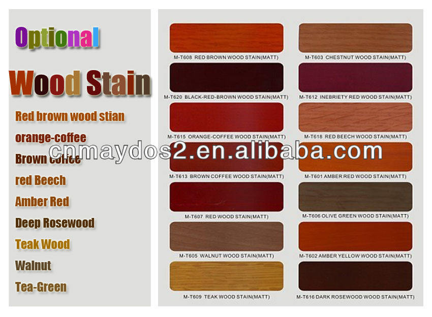 Maydos Colorful Wood Coating Stain For Modern Wood Furniture Colors Mixing