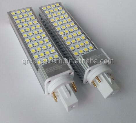 Hecho en China PL luz G24q G24q3 LED G24 bombillas 2 pin, 4 pin, regulable G24 LED