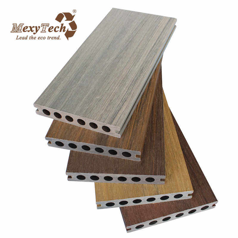 Mexytech co-extrusion composite wood plastic wpc decking/flooring/boards