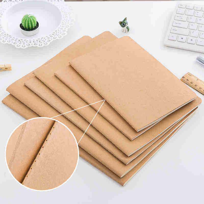 Good Quality Refill Kraft paper cover Books Insert Books for Leather Vintage Travel Handmade Writing Notebook
