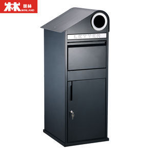Lockable Parcel Letterbox with Newspaper Roll Galvanized Steel Maximum Size of Parcel: 360*290*180mm
