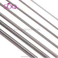 China Wholesale Stainless Steel Snake Chain For Jewelry Making