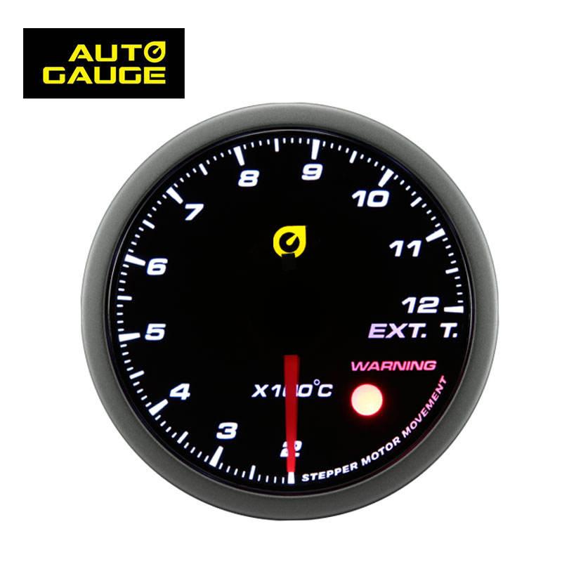 "DRIFT AUTO Gauge Meter 60mm//2.4/"" SMOKED Lens WHITE Light RED Needle TACHOMETER"