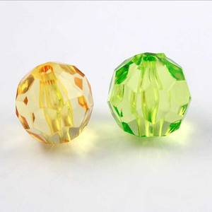 plastic beads plastic round beads facet 8mm plastic beads