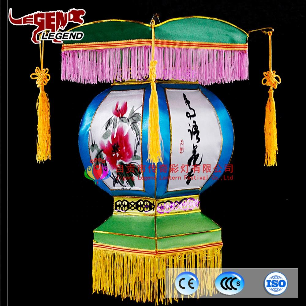 Chinatown festival Chinese decoration hanging silk traditional lantern