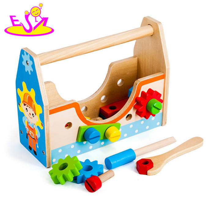 New product kids educational play set wooden toddler tool set W03D084