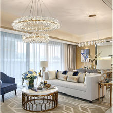 New web celebrity crystal chandelier in living room, light luxury firefly lamp in Nordic designer dining room bedroom